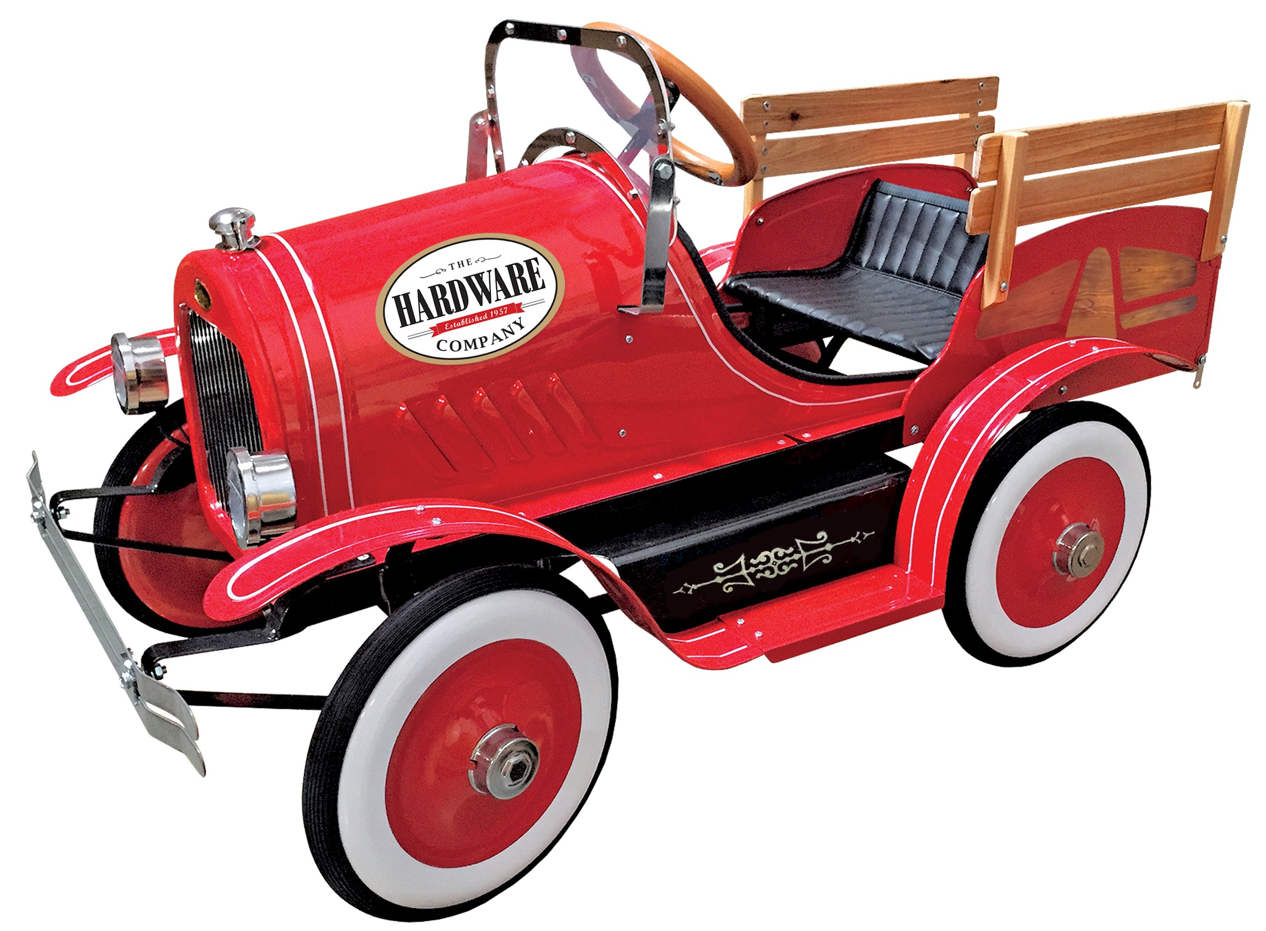 dexton vintage red delivery truck pedal car
