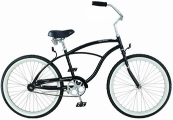 "Firmstrong Men's 24"" Steel Urban Single Speed Cruiser Bicycle"