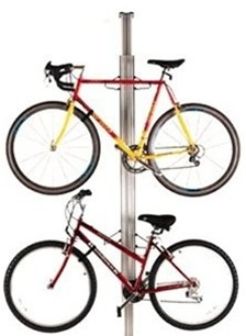 Gear Up Bikes Up Away Aluminum Floor to Ceiling Rack