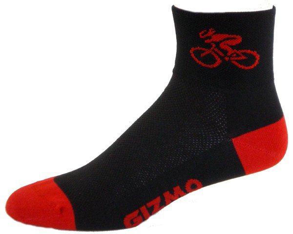 Gizmo Gear Black / Red Bicycle Cycling Socks