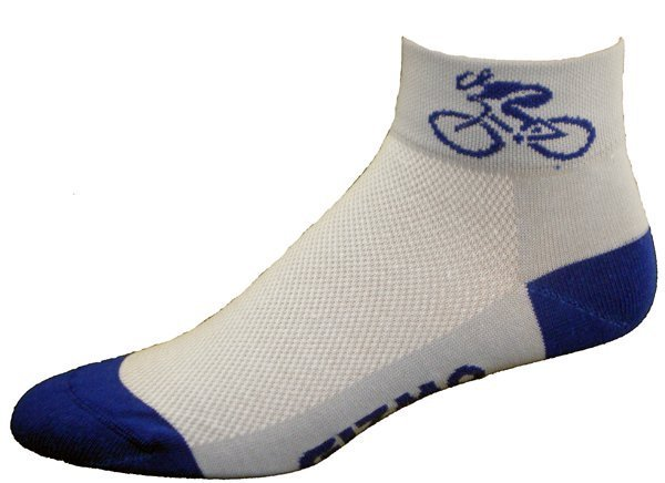 Gizmo Gear White / Royal Blue Bicycle Cycling Socks