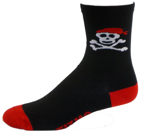 "Gizmo Gear Pirate 5"" Cuff Cycling Socks"