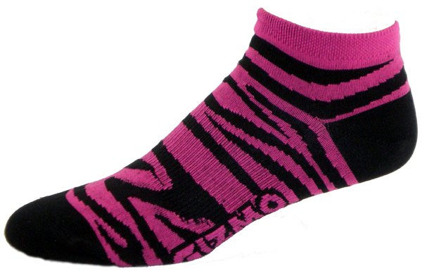 Gizmo Gear Zebra Fushia / Black Cycling Socks
