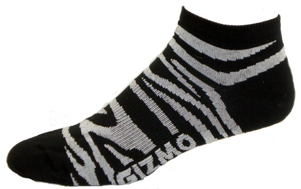 Gizmo Gear Zebra White Black Cycling Socks