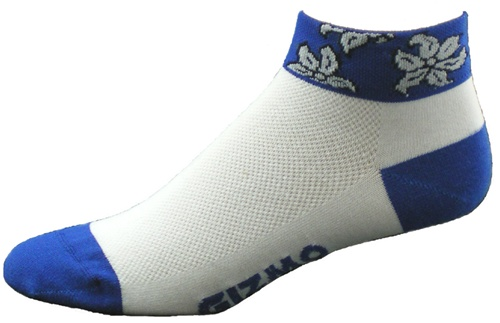 Gizmo Gear Ocean Blue Hawaiian Cycling Socks