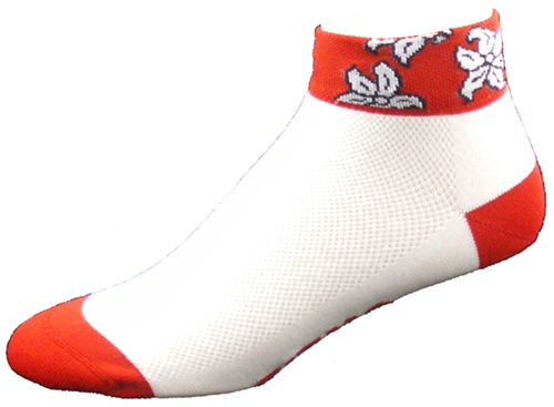 Gizmo Gear Maui Red Hawaiian Cycling Socks