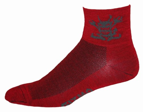 Gizmo Gear Wooly G5 Merino Devil Wool Devil Cycling Bicycle Socks