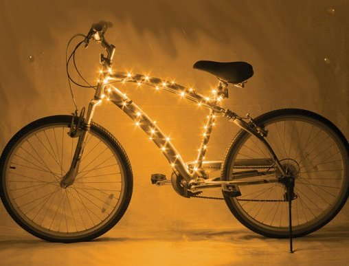 Cosmic Brightz Bicycle Lights Gold