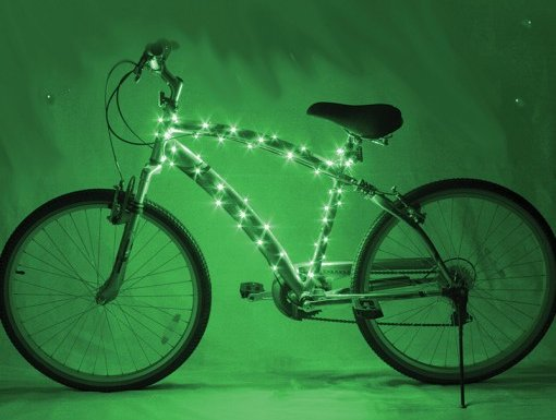 Cosmic Brightz Bicycle Lights Green