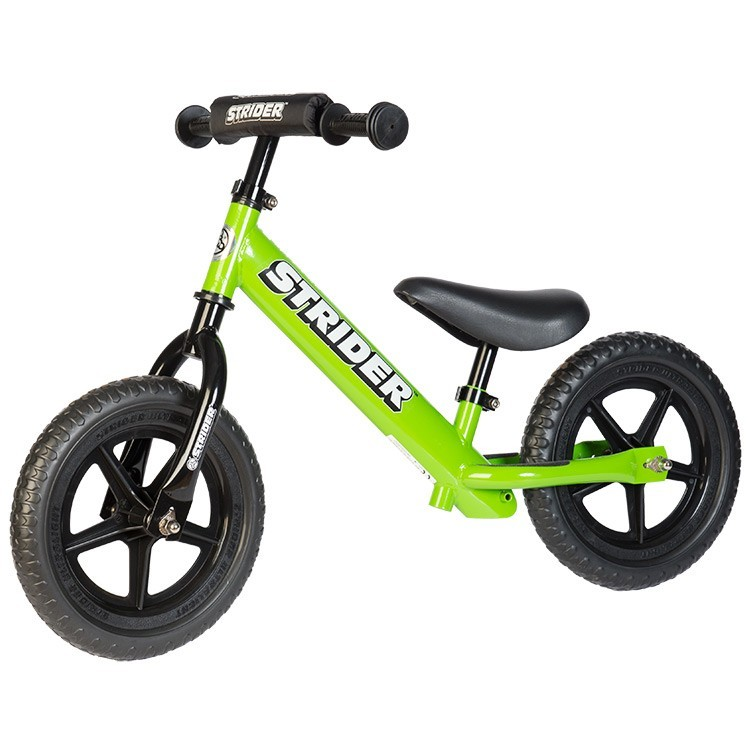 Strider 12 Sport No Pedal Balance Bike Green