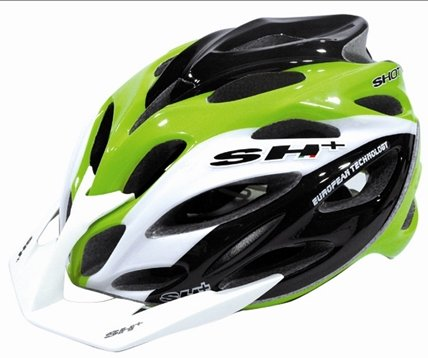 SH+ Shot XC Bicycle Helmet Green/White/Black