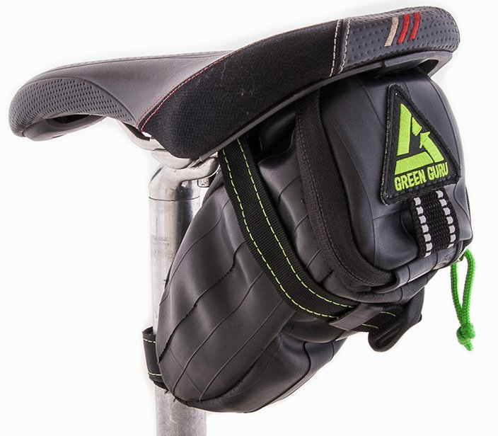 Green Guru Shifter Recycled Bike Tube Saddle Bag