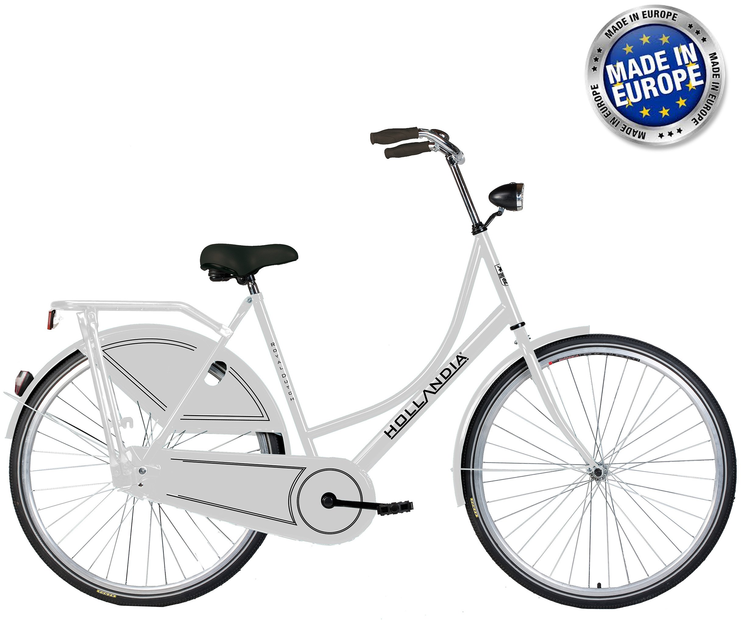 Hollandia Royal Dutch European City Bike White 19""