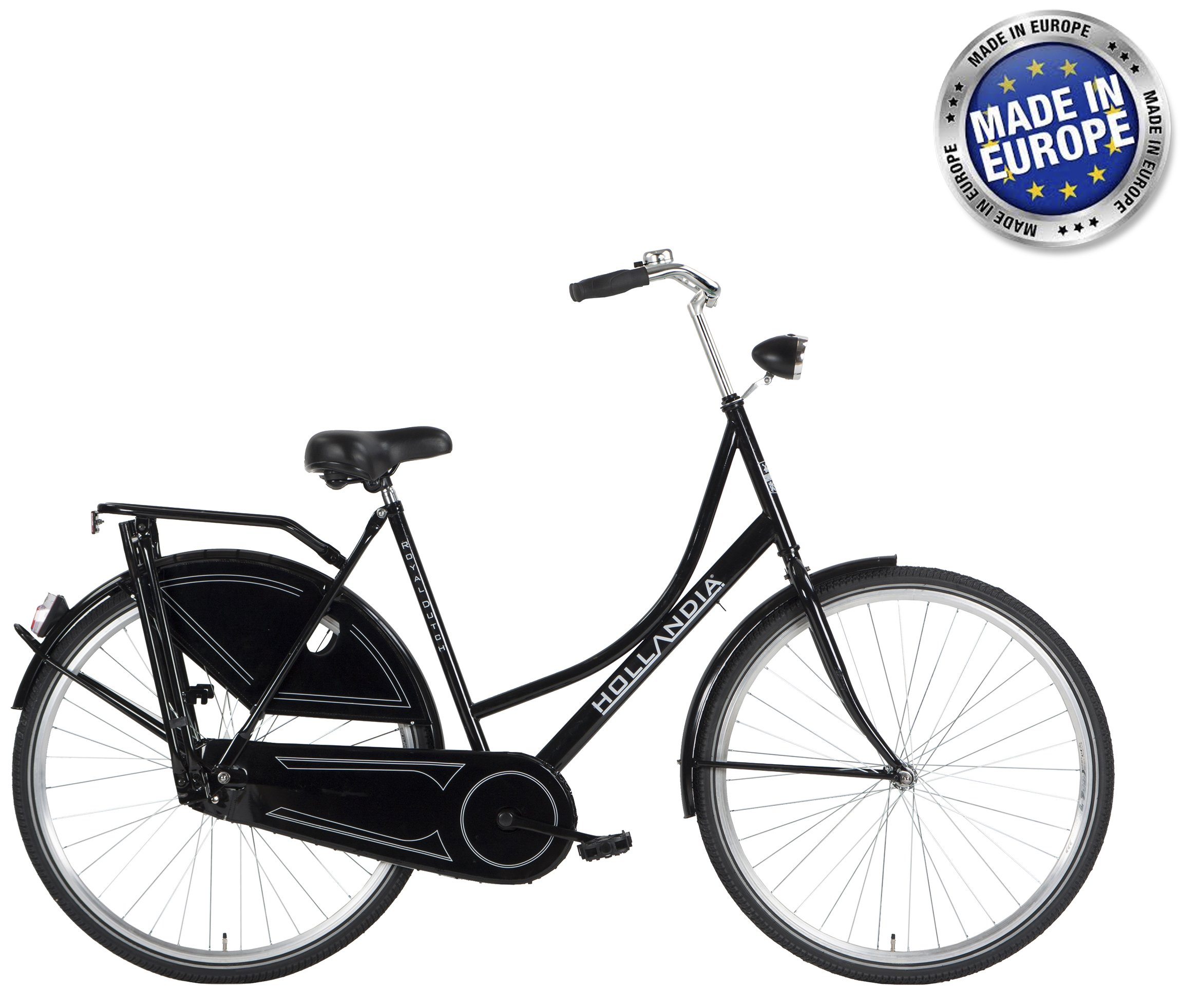 Hollandia Royal Dutch European City Bike Black 700C 19""