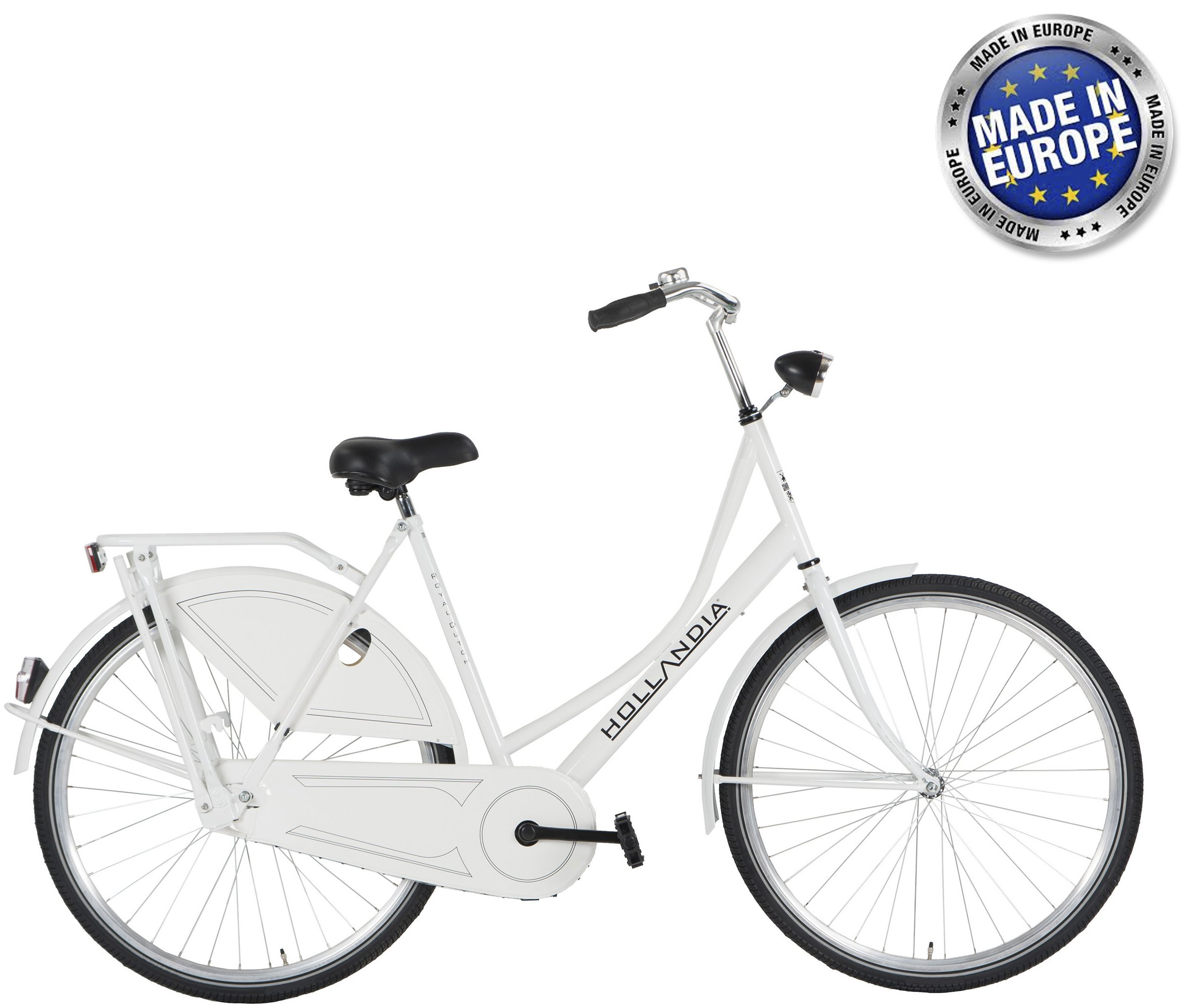 Hollandia Royal Dutch European City Bike White 700C 22""