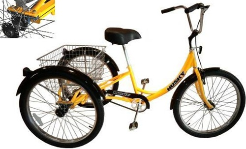 "Husky Heavy Duty 26"" Industrial 3 Speed Tricycle (T 326)"