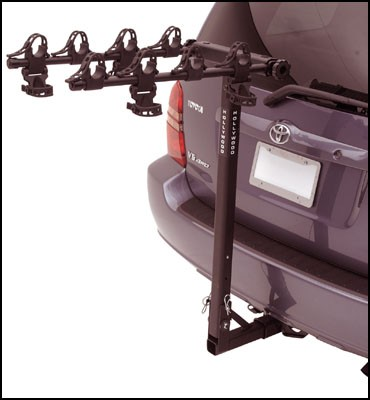 Hollywood Racks Traveler 4 Bike Hitch Bicycle Rack 2 receiver