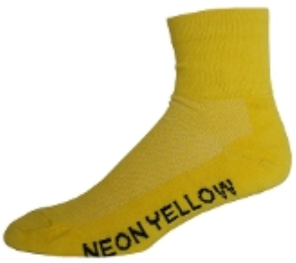 NLZ Neon Yellow Cycling Socks