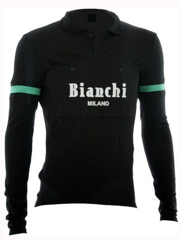 Bianchi Milano Camastra Long Sleeve Vintage Cycling Jersey Small