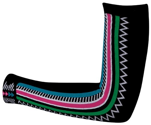 SOS Native Bamboo Arm Warmers Black Forest
