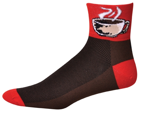 SOS Caffienate Me Coffee Red Cycling Socks