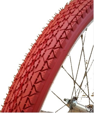 Innova Red Beach Cruiser Bicycle Tire (Model 2704 Red Tread)
