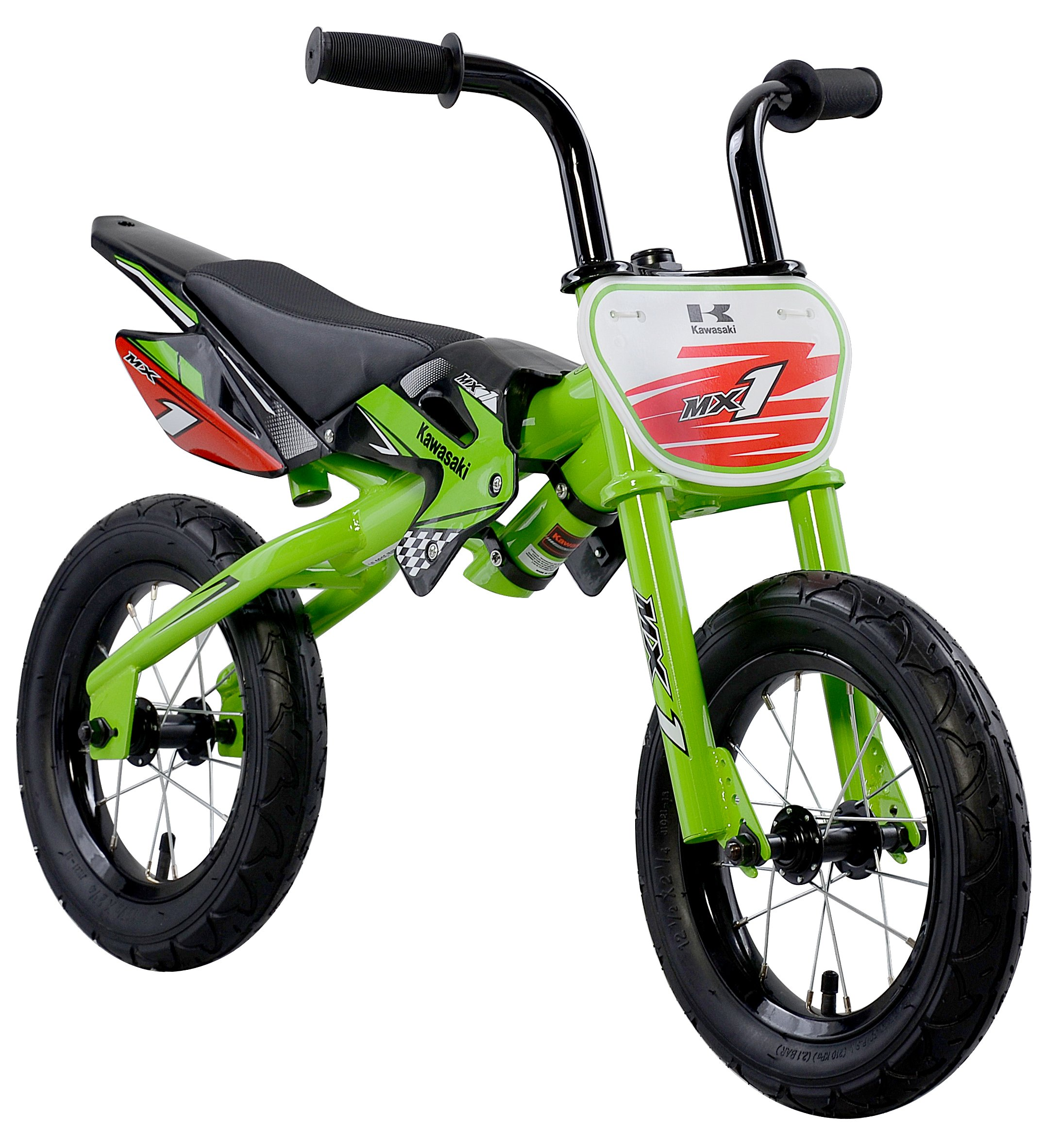 Kawasaki MX1 Green Balance Running Bike