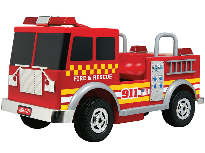 Kalee Fire Truck Battery Operated Ride On Car