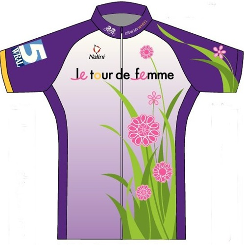 Le Tour de Femme 2011 Breast Cancer Awareness Cycling Jersey