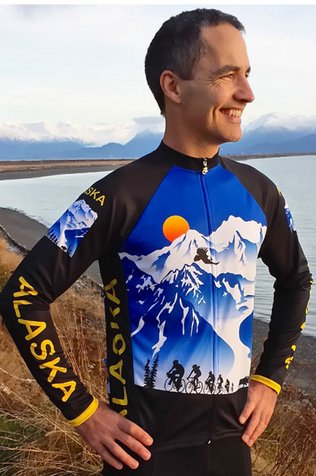 Alaska Majestic Long Sleeve Bike Jersey Version 3 Large