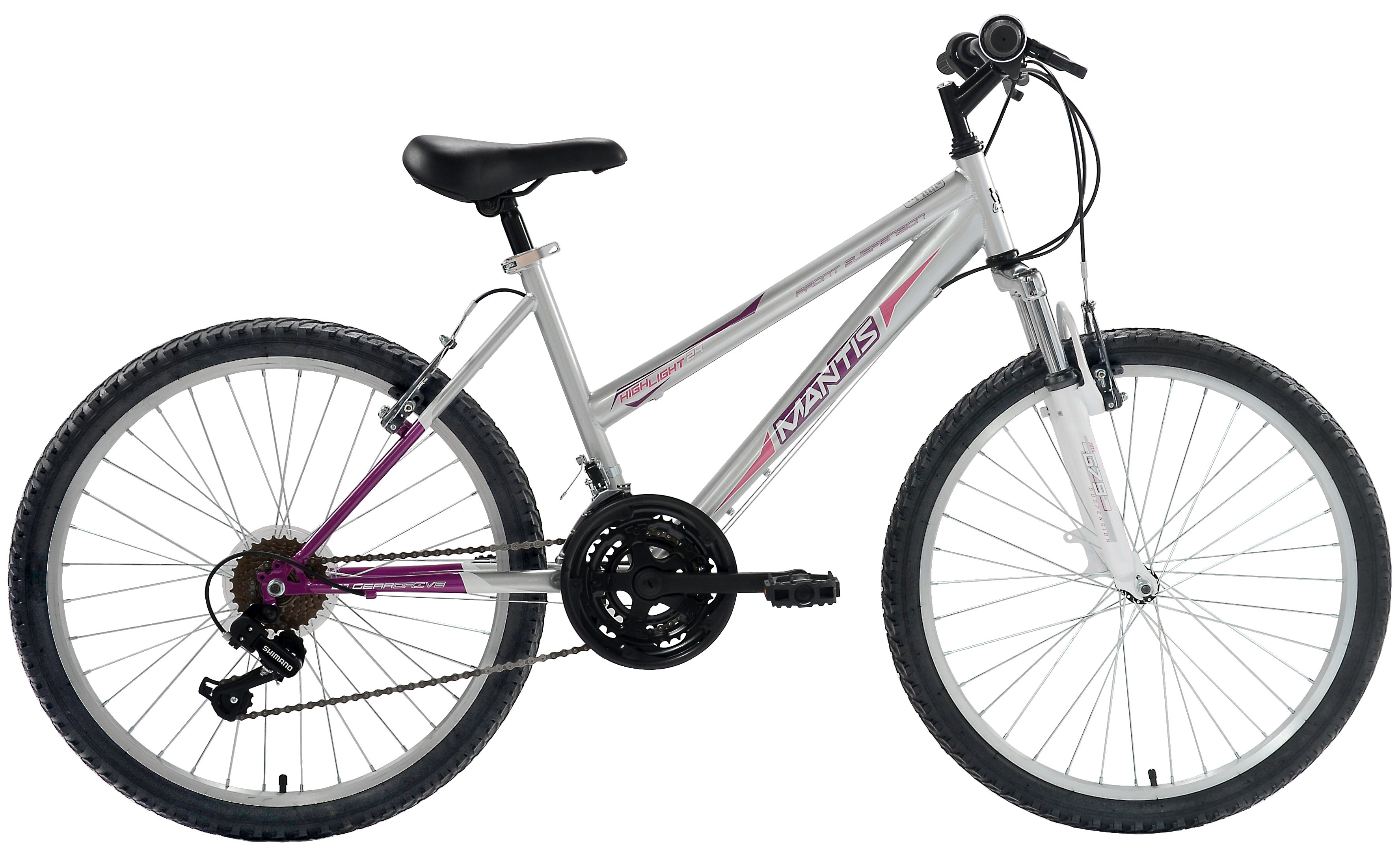 "Mantis Raptor Girls 24"" Hardtail MTB 21 Speed Bicycle"