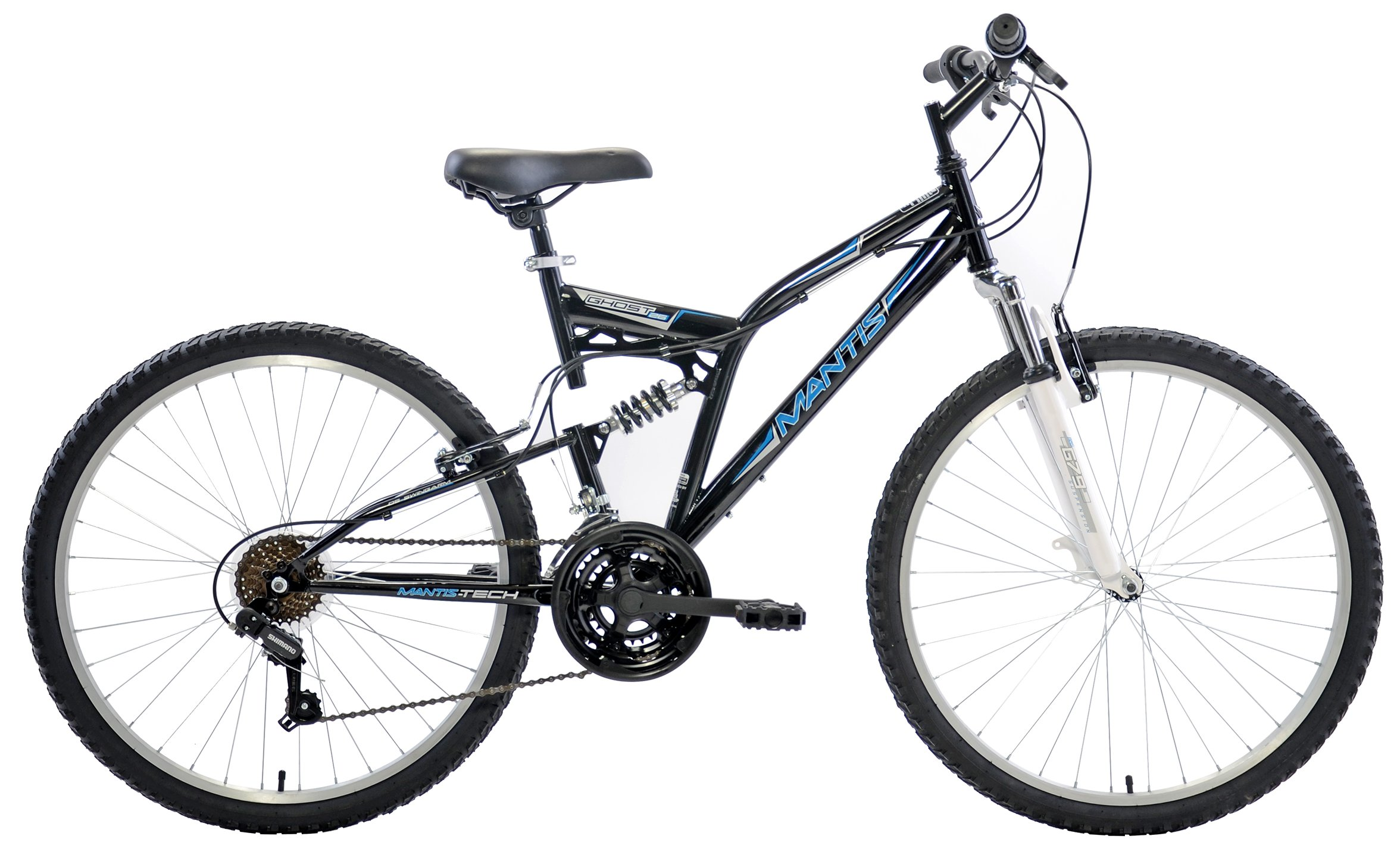 "Mantis Men's 26"" Ghost 21 Speed Dual Suspension Mountain Bike"