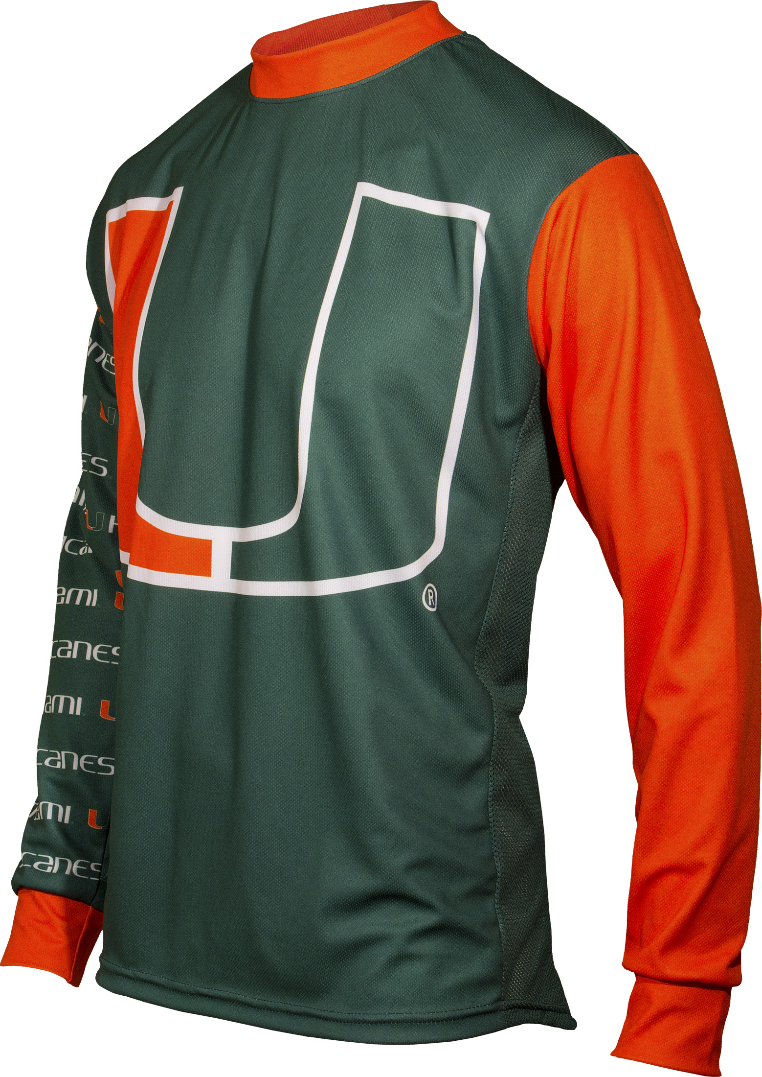 University of Miami Hurricanes Long Sleeve MTB Cycling Jersey