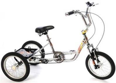 "Mission BMX Trike MX 16"" Teen/Adult Tricycle with Suspension Fork"