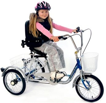 "Mission Trilogy 16"" Single Speed Special Needs Adjustable Tricycle"