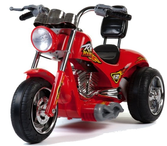 Mini Motos Red Hawk 12V Ride On Toy Motorcycle