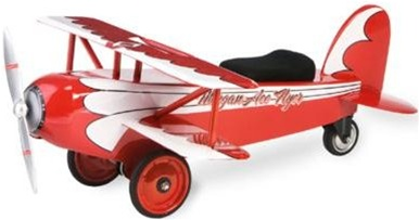 Morgan Cycle Ace Flyer BiPlane Ride On Toy