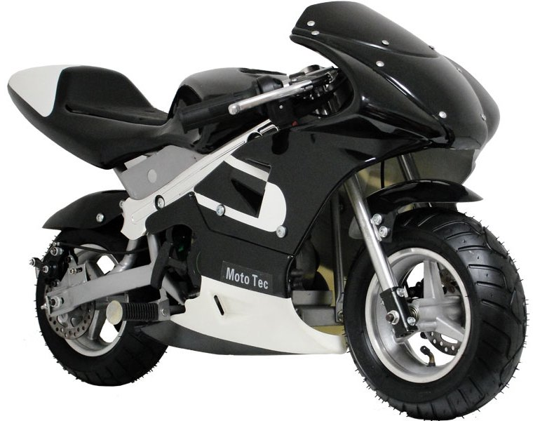 mototec gas off road pocket bike black. Black Bedroom Furniture Sets. Home Design Ideas