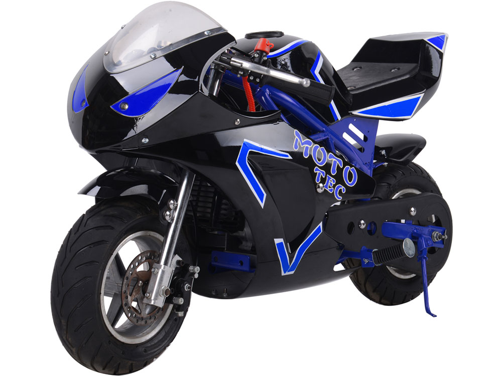 MotoTec Gas Pocket Bike GT 49cc 2-Stroke - Blue