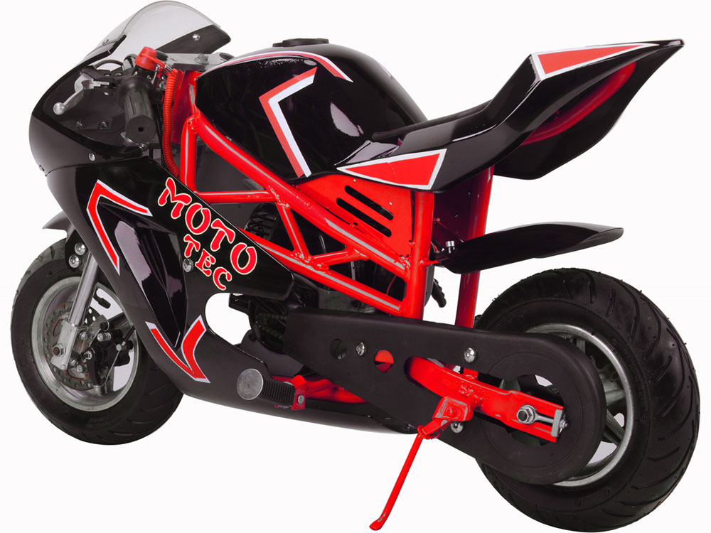 MotoTec Gas Pocket Bike GT 49cc 2-Stroke - Red