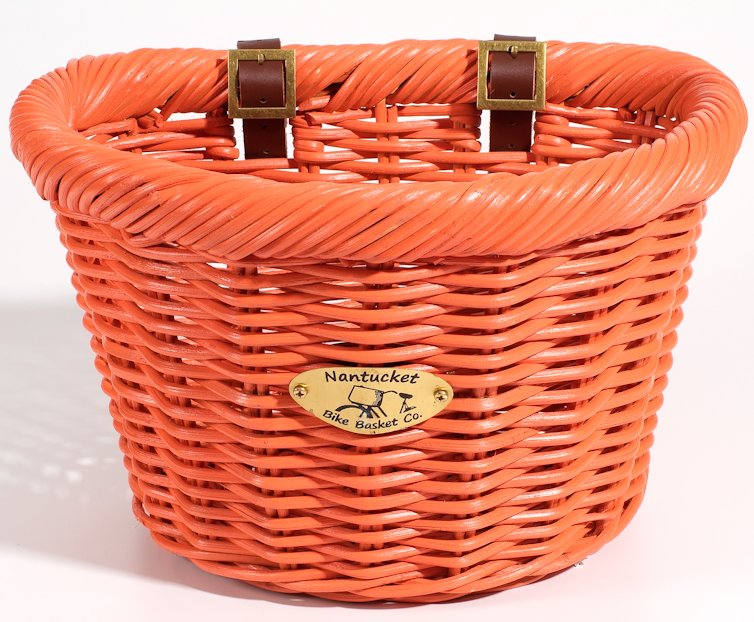 Nantucket Limited Edition Orange Cruiser Bike Basket