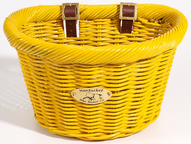 Nantucket Limited Edition Yellow Cruiser Bike Basket