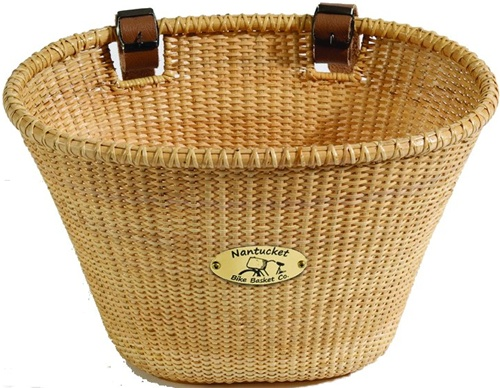 Nantucket Bike Baskets Lightship Golden Brown Rattan Collection