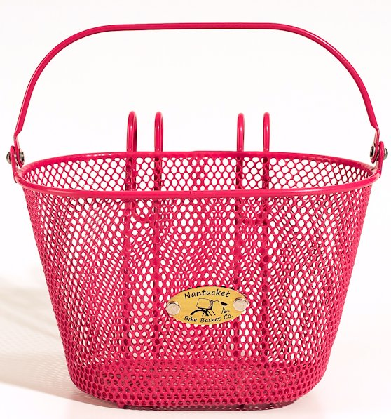 Nantucket Bike Baskets Child Size Surfside Collection Pink