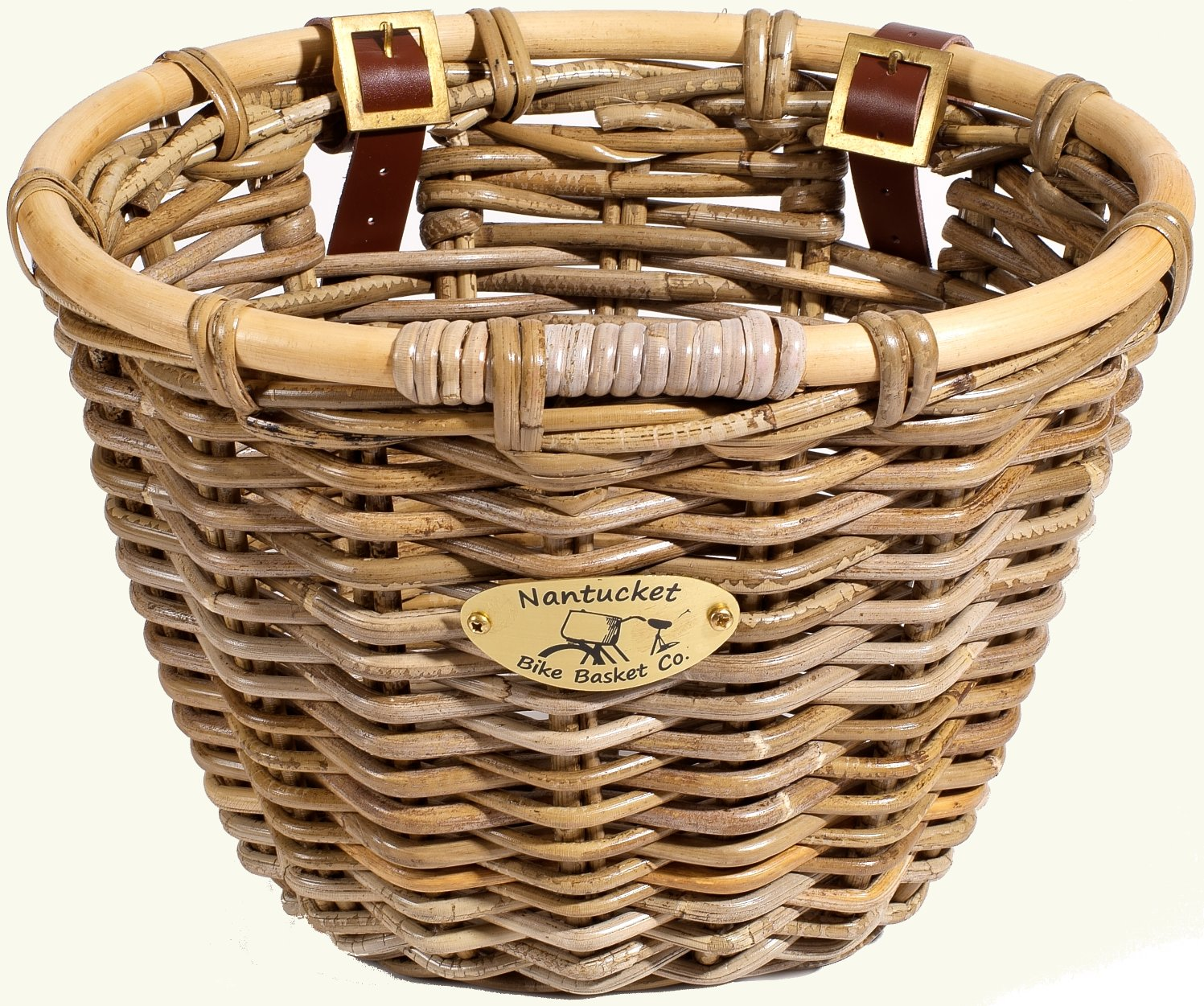 Nantucket Bike Baskets Tuckernuck Rattan Collection Oval