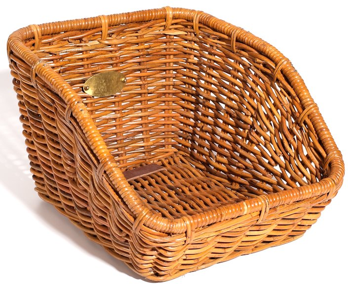 Nantucket Rear Cargo Rattan Bicycle Basket Cisco