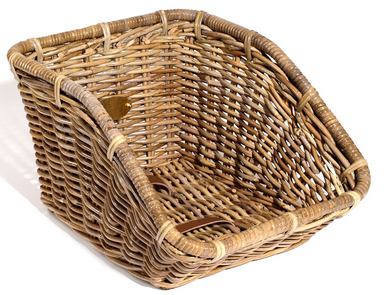 Nantucket Rear Cargo Rattan Bicycle Basket Tuckernuck