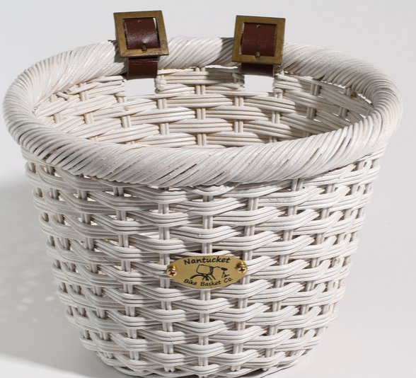 Nantucket Cliff Road Collection Childs White Bike Basket