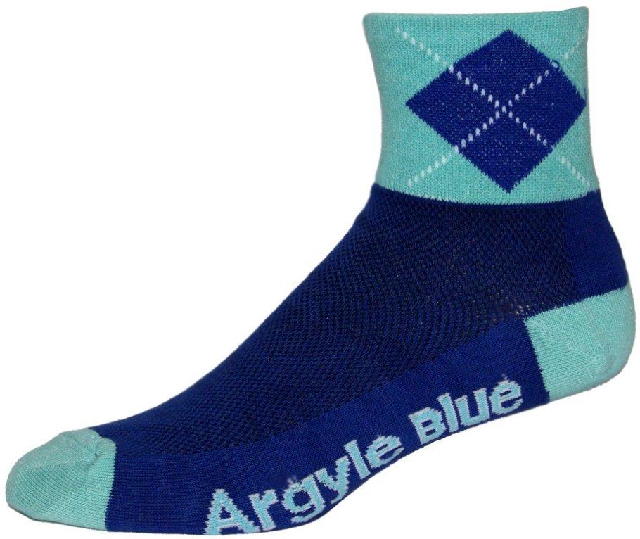 NLZ Blue Argyle Cycling Socks