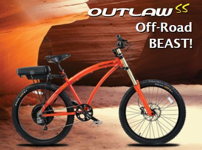 Prodeco Outlaw SS V4 48V 750W 8 Speed 12Ah Electric Bike